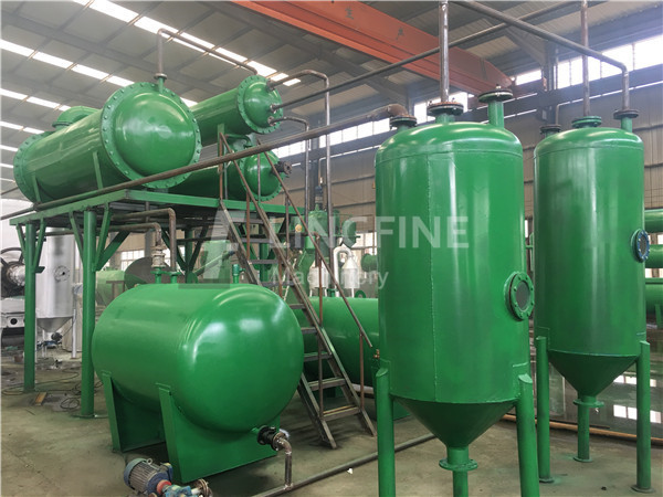 Tyre Pyrolysis Oil Further Processing Waste Motor Oil Recycle