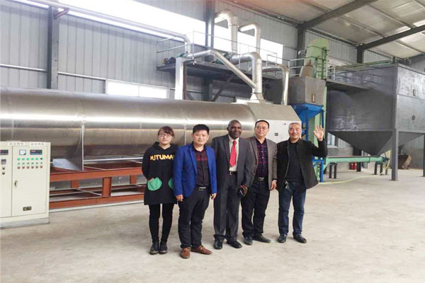 March 2017 Zambia client visit Lingfine factory and discuss the peanut oil production line of 30TPD.