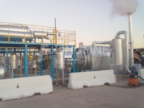 Used Rubber Recycling Pyrolysis Plant