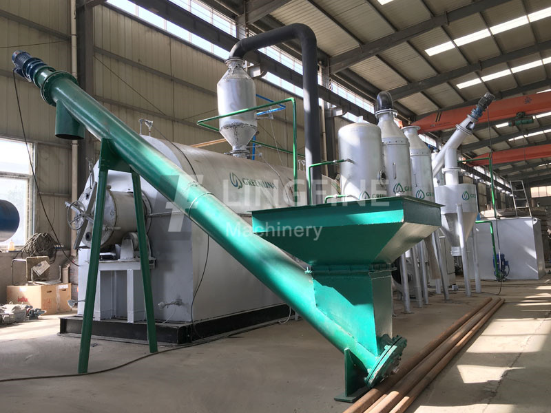 Swiss 2 tons waste tyre pyrolysis and 1 ton plastic oil distillation line