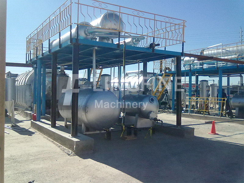 Vietnam 10TPD Waste Plastic And Tyre Oil Distillat Diesel